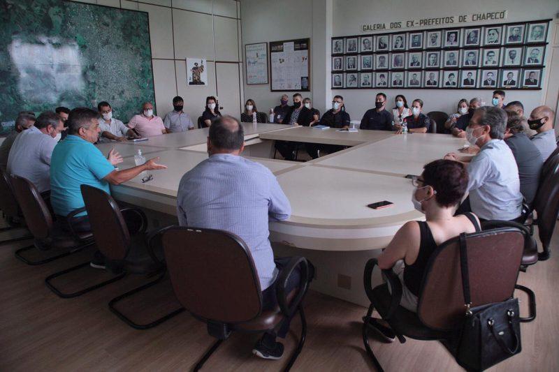 A última reunião aconteceu em janeiro – Foto: Prefeitura de Chapecó/Arquivo/ND