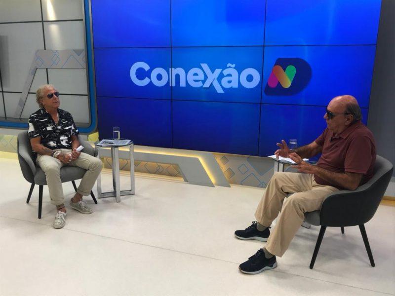 Cacau Menezes recebe o engenheiro Honorato Tomelin – Foto: NDTV