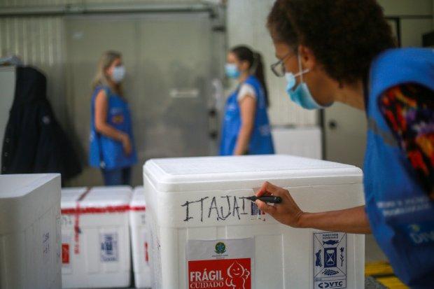 Distribuição das vacinas contra a Covid-19