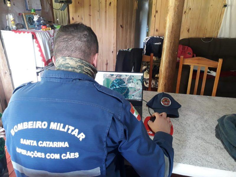 Corpo de Bombeiros conversou com familiares para realizar as buscas. – Foto: Corpo de Bombeiros/Divulgação/ND