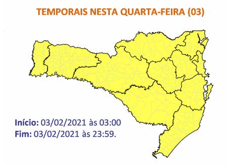 Condição de temporais vai até o final desta quarta (3) – Foto: Defesa Civil/Divulgação/ND