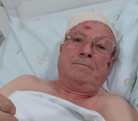 Diácono foi socorrido pela comitiva presidencial após ser atropelado – Foto: Arquivo pessoal/ND