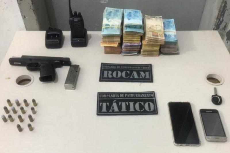Dinheiro roubado durante assalto no Alto Vale é recuperado em Joinville – Foto: Divulgação/Polícia Militar/ND