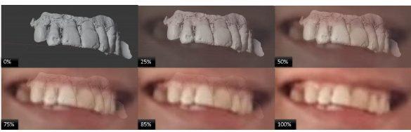 Sobreposição do modelo 3D e a fotografia antiga