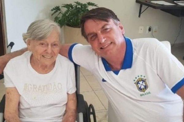 Não é possível saber qual dos imunizantes a mãe de Bolsonaro tomou – Foto: Reprodução/Instagram/ND