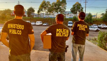 Operação aconteceu na manhã desta terça-feira (2) – Foto: Gaeco/Divulgação/ND