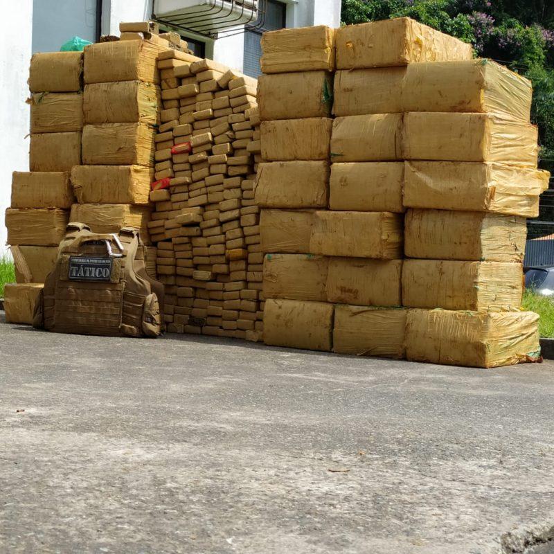 Droga estava em uma casa da zona Norte de Joinville – Foto: Ricardo Moreira/NDTV