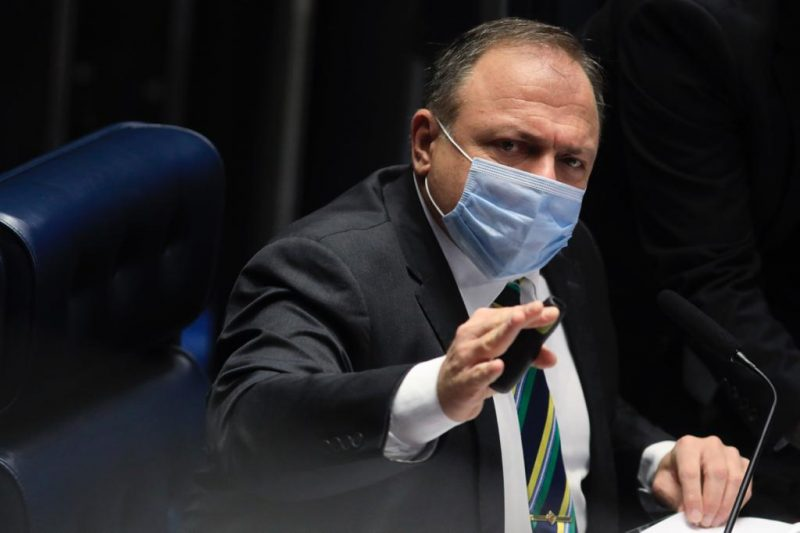 O ministro da Saúde, Eduardo Pazuello, terá audiência com o prefeito de Chapecó – Foto: Igo Estrela/Metrópoles/Divulgação/ND