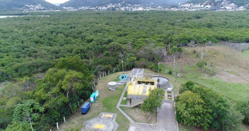 ETE da Casan no bairro João Paulo/Saco Grande. Foto: Acervo Casan/ND