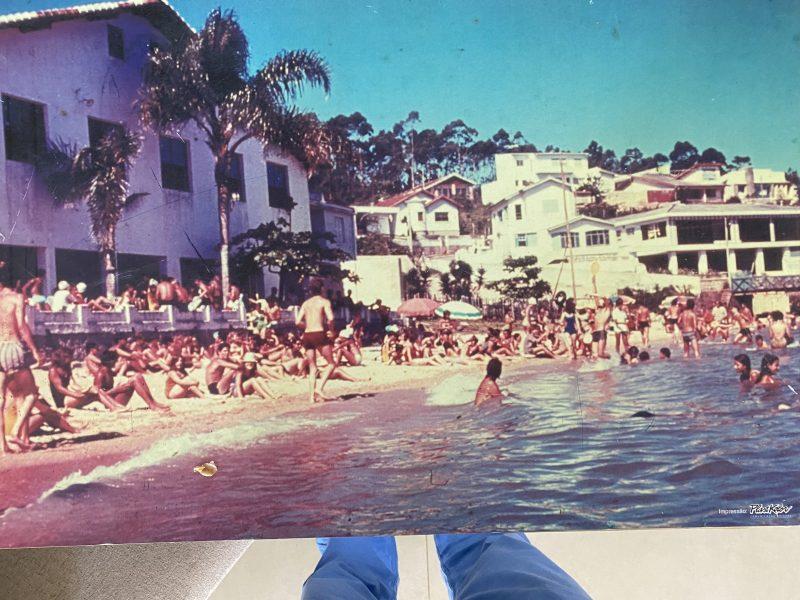 Praia Clube, praia da Saudade, Coqueiros – Foto: Arquivo pessoal
