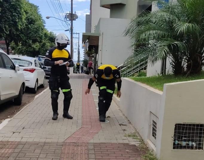 Principais pontos de aglomeração de pessoas foram demarcados – Foto: Guarda Municipal/ND