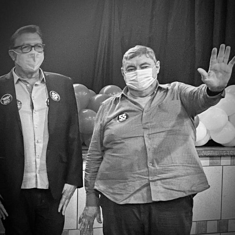 Gervásio Silva, ao lado de Orvino Coelho, durante campanha no ano passado – Foto: Divulgação/ ND