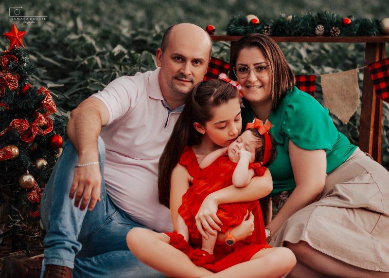Danubia e a família passam bem – Foto: Arquivo Pessoal/ND