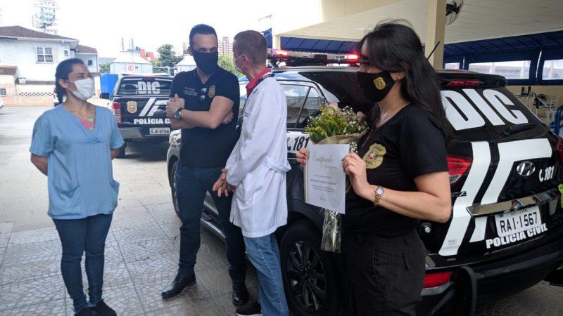 """Operação foi batizada como """"Gratidão"""". A mesma equipe que participou do resgate do seu Agostinho fez questão de estar presente na homenagem– Foto: Juan Todescatt"""