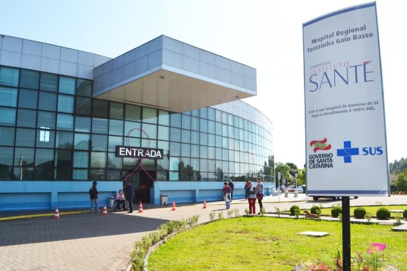 Hospital Regional Terezinha Gaio Basso, em São Miguel do Oeste. – Foto: Divulgação/ND