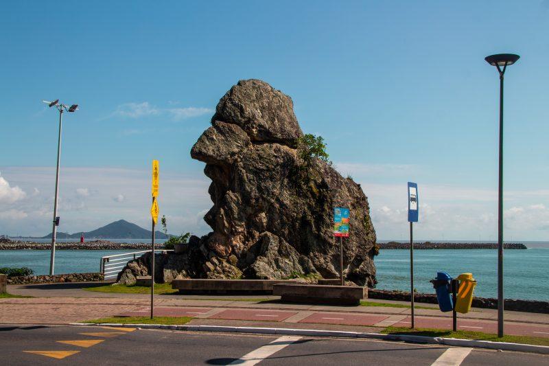 Bico do Papagaio, ponto turístico de Itajaí – Foto: Arquivo/Bruno Golembiewski/ND