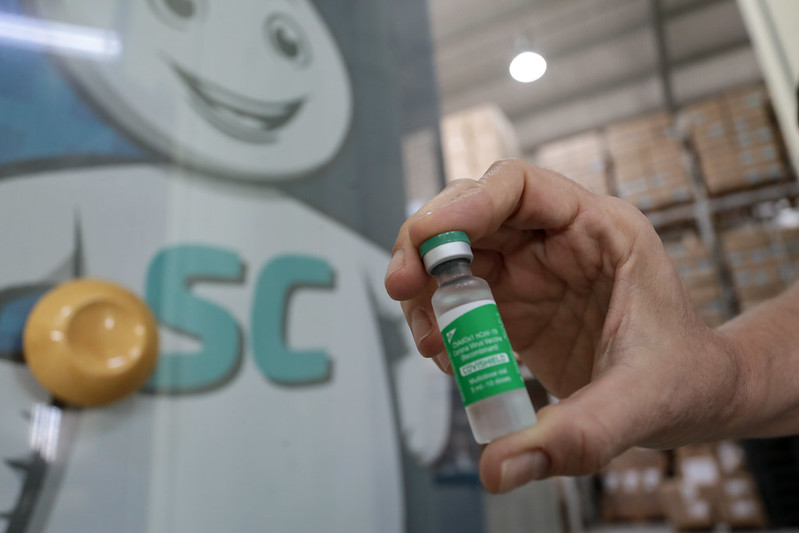 Imunizante da Astrazeneca tem eficácia elevada contra a Covid-19 – Foto: Mauricio_Vieira/Secom/ND