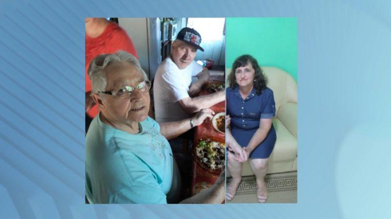 Evanir (à direita) tentou salvar os pais (à esquerda), mas os três morreram – Foto: Reprodução/Arquivo pessoal