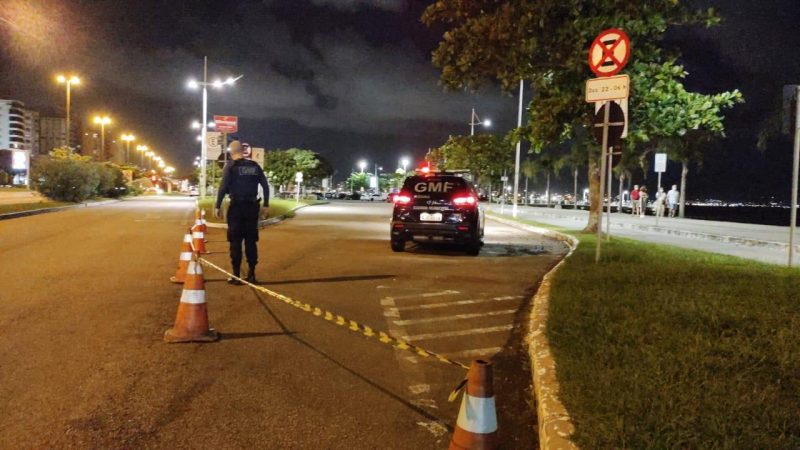 Bolsão foi interditado na Beira-Mar Norte – Foto: PMF/Divulgação/ND