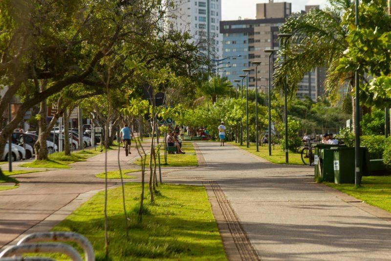 Beira Rio, em Itajaí, é um espaço para a prática de exercício físico ao ar livre – Foto: Almir Rodrigues/NDTV