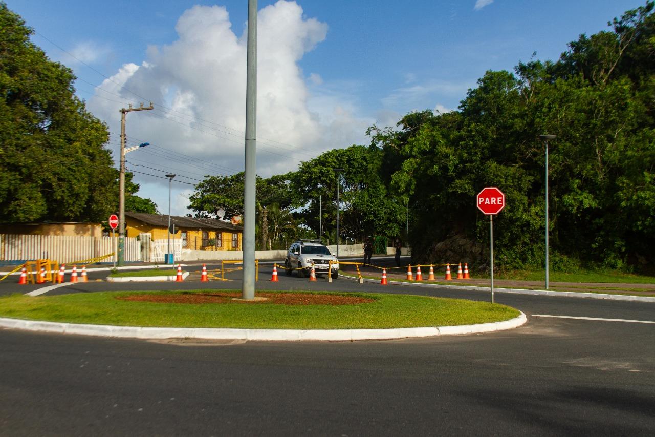 Pontos de maiores circulação de pessoas em Itajaí recebeu fiscalização policial - Almir Rodrigues/NDTV