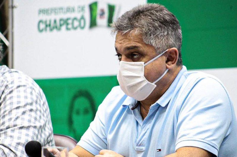 Prefeito de Chapecó conta com apoio do Governo de SC e do Ministério da Saúde para abrir novos leitos de UTI e enfermaria – Foto: Prefeitura de Chapecó/ND