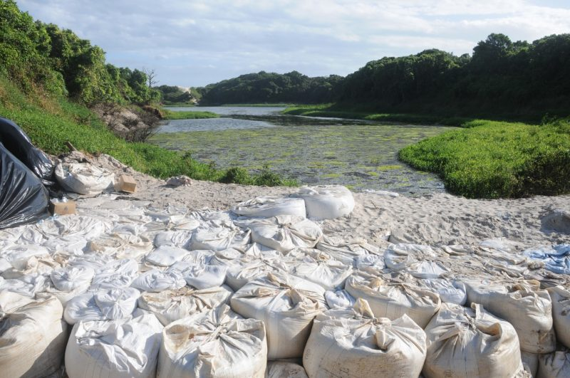Lagoa artificial da Casan já não é mais aceita pela comunidade – Foto: Leo Munhoz/ND
