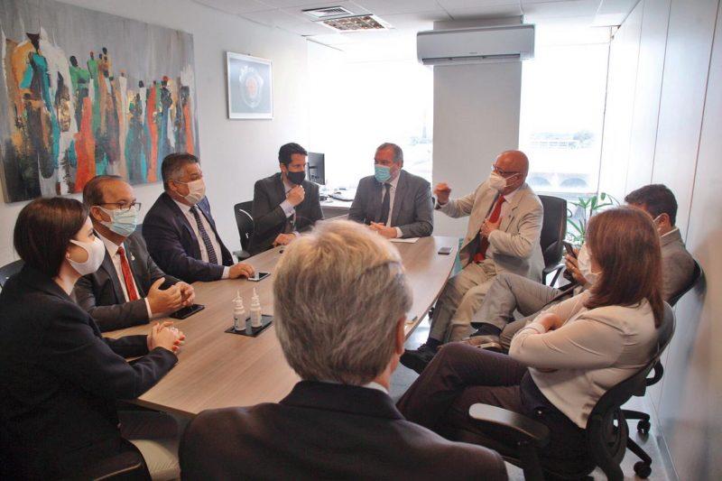 A reunião ocorreu no Ministério da Saúde, em Brasília. – Foto: Leandro Schmidt/Divulgação/ND