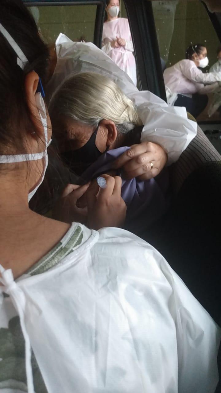 Idosa 108 anos foi vacinada no bairro Efapi - Prefeitura de Chapecó/ND