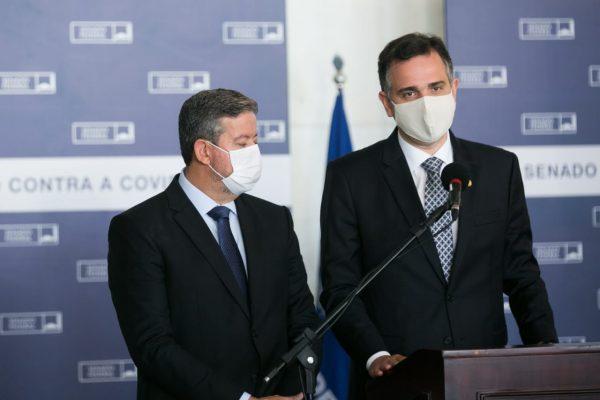 Presidente da Câmara, Arthur Lira (PP-AL), e do Senado, Rodrigo Pacheco (DEM-MG) – Foto: Rafaela Felicciano/Metrópoles
