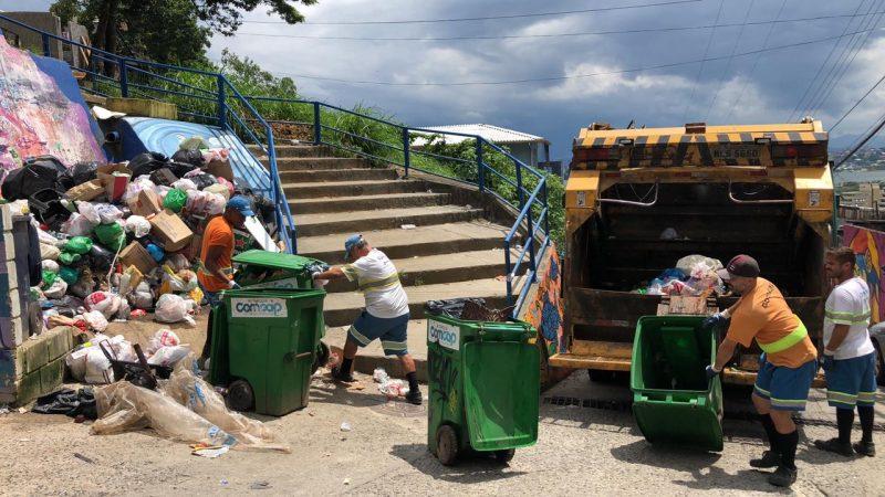 Greve da Comcap durou 14 dias e durante esse período o lixo se acumulou nas ruas da cidade – Foto: Comcap/Divulgação ND