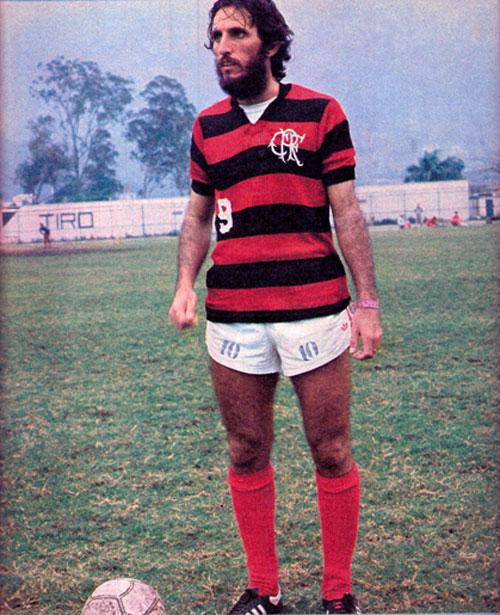Marciano, de Lauro Müller no sul do estado para o Flamengo balançar as redes do Maracanã pelo Flamengo – Foto: Revista Placar/1977