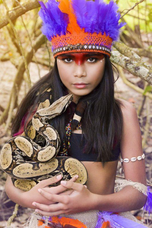 Maria Júlia dos Santos, representatividade indígena na agência de Andréa – Foto: Luciana Moreira/Divulgação/ND