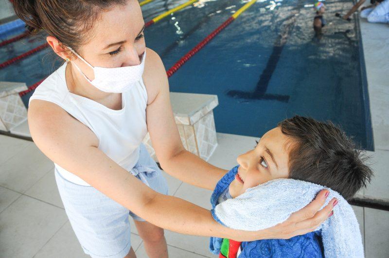 aluno de natação