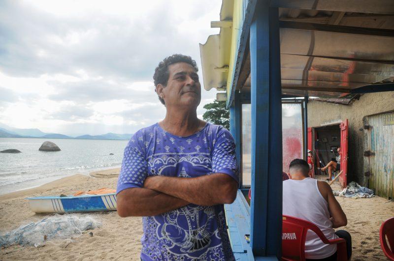 Miguel Inácio, morador da Tapera há quatro anos, vê o local como um refúgio – Foto: Leo Munhoz/ND