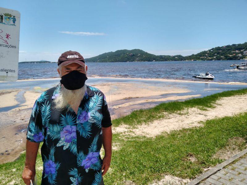 Morador da Lagoa da Conceição e ambientalista fala que apenas uma tragédia pode mobilizar ações – Foto: Bruna Stroisch /ND