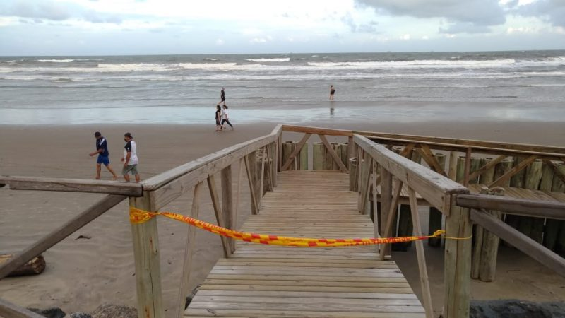 Uso da faixa de areia, segundo o decreto, só poderá ser feito para prática de atividades físicas individuais – Foto: Reprodução/ND