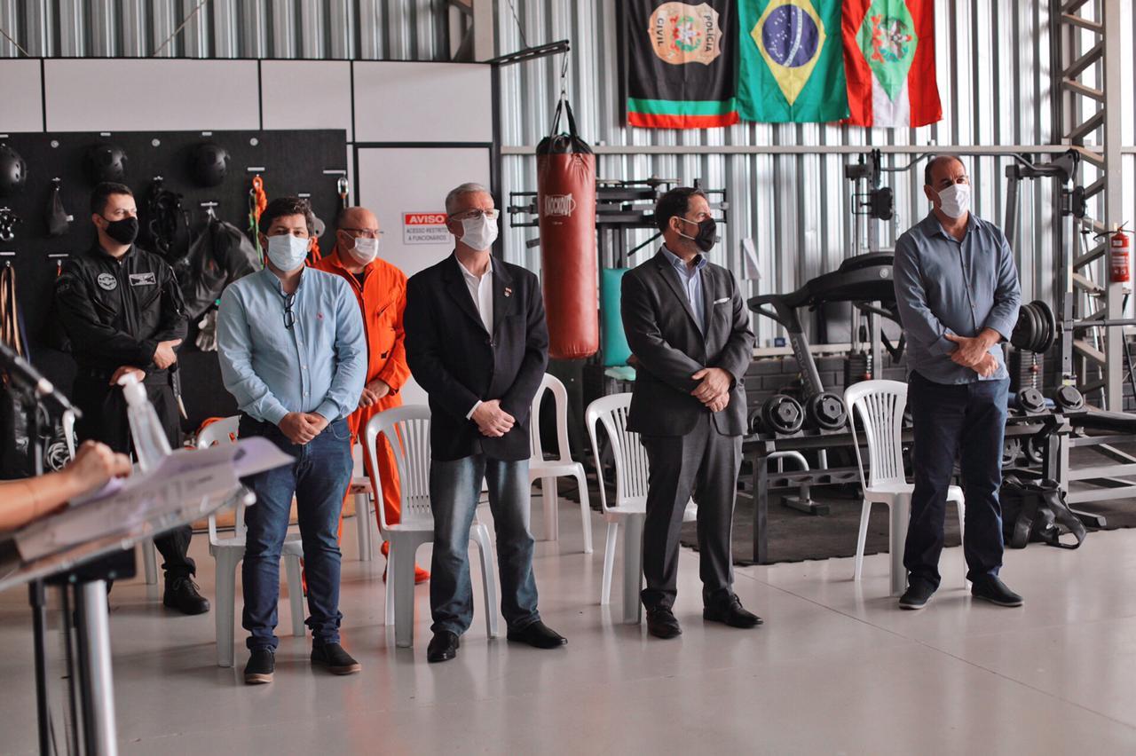 Solenidade aconteceu nesta manhã na base do SAER/FRON - Saer/Fron/Divulgação/ND