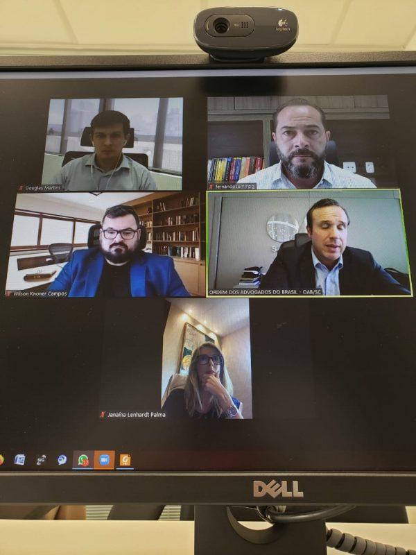 MP e OAB discutiram atuação conjunta em videoconferência nesta quarta-feira (17) – Foto: Reprodução/ND