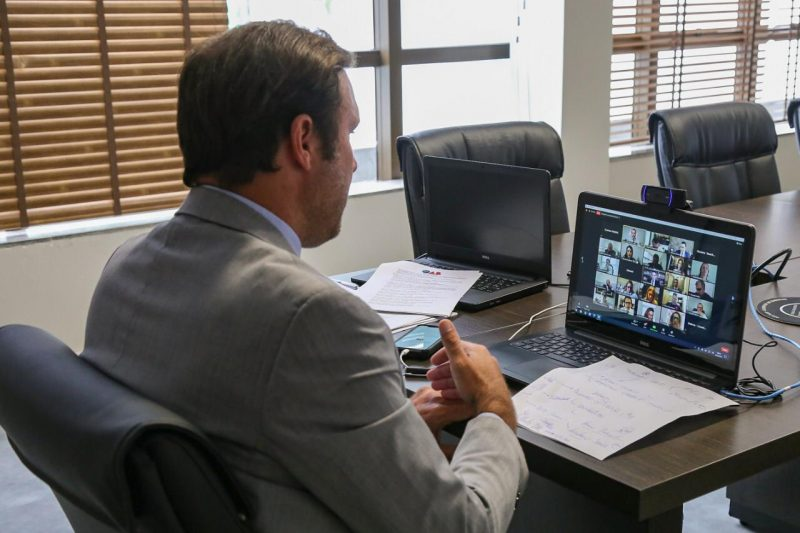 Rafael Horn, presidente da OABSC durante reunião virtual do Conselho Pleno – Foto: Divulgação/ND
