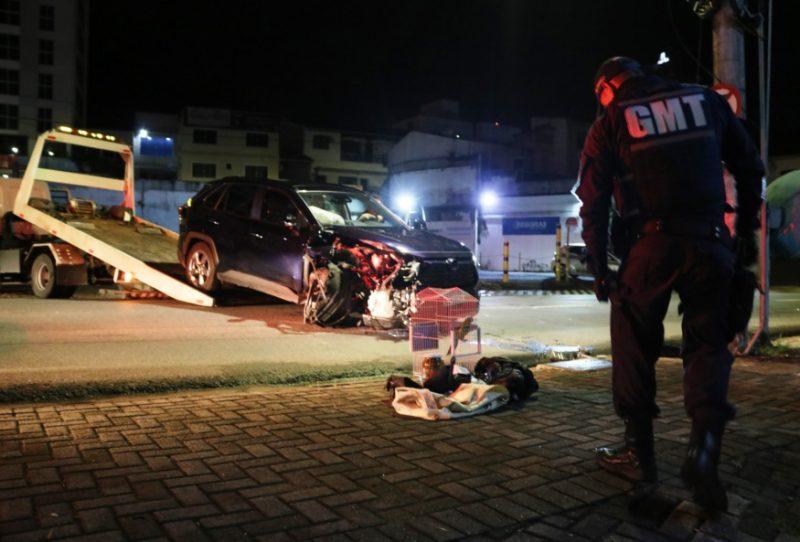 Padre bebe além de conta e se envolve em acidente em Blumenau – Foto: Jefferson Santos / Mesorregional / Divulgação