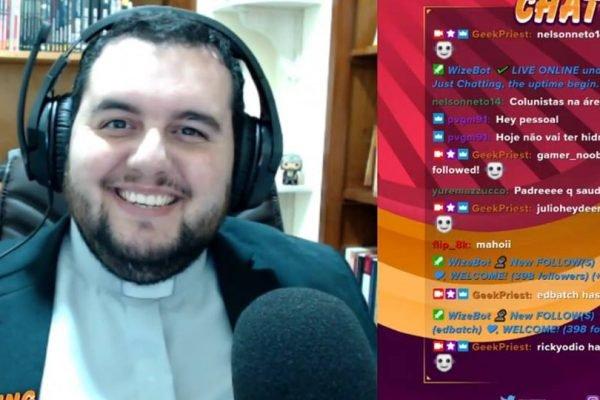 Padre Edson José é gamer e tem feito sucesso nas redes sociais – Foto: Reprodução/ND
