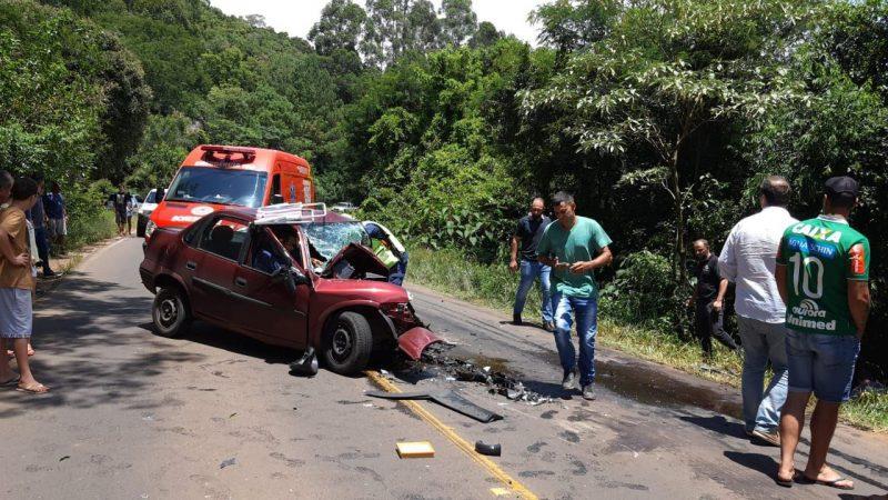 O acidente ocorreu no início da tarde desta terça-feira (9). – Foto: Corpo de Bombeiros/Divulgação