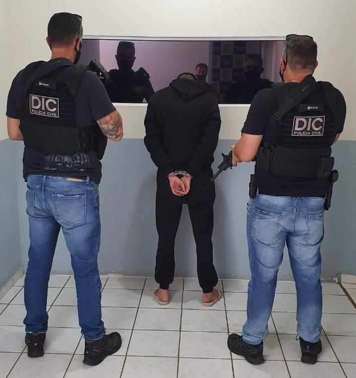 O suspeito foi preso em Chapecó na tarde desta quarta-feira (17). – Foto: Polícia Civil/Divulgação/ND