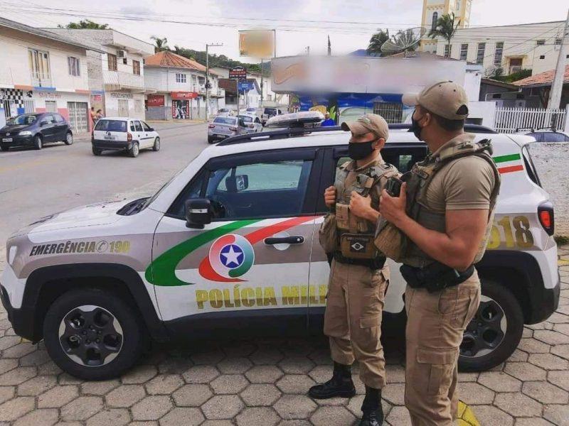 Caso ocorreu no Centro de Florianópolis – Foto: Polícia Militar/Divulgação/ND