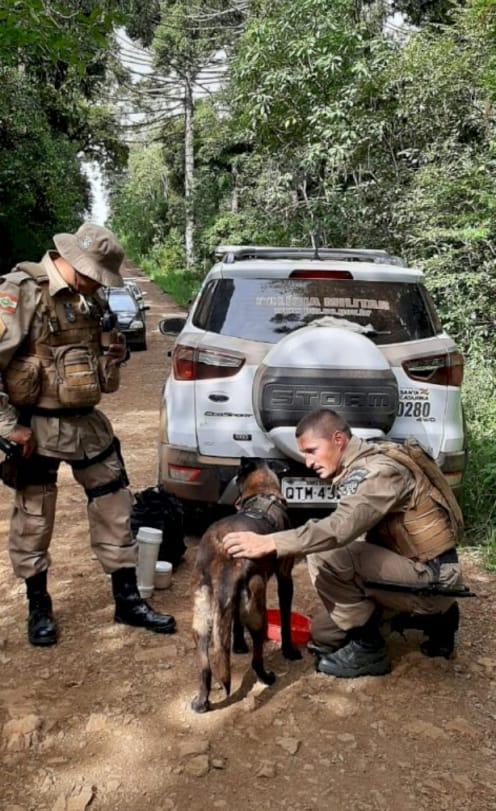 A PM também auxiliou nas buscas. - Polícia Militar/Divulgação/ND