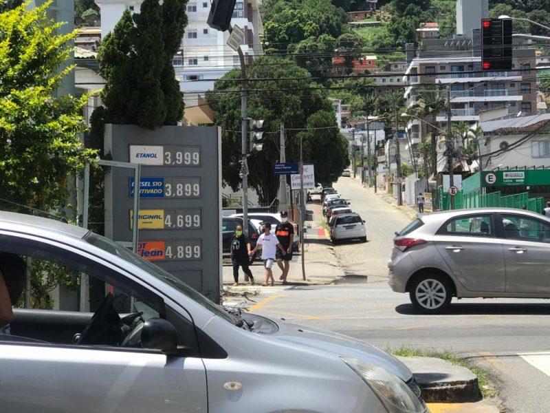 Reajuste no preço da gasolina já é sentido nos postos da Capital catarinense – Foto: Bruna Stroisch/ND