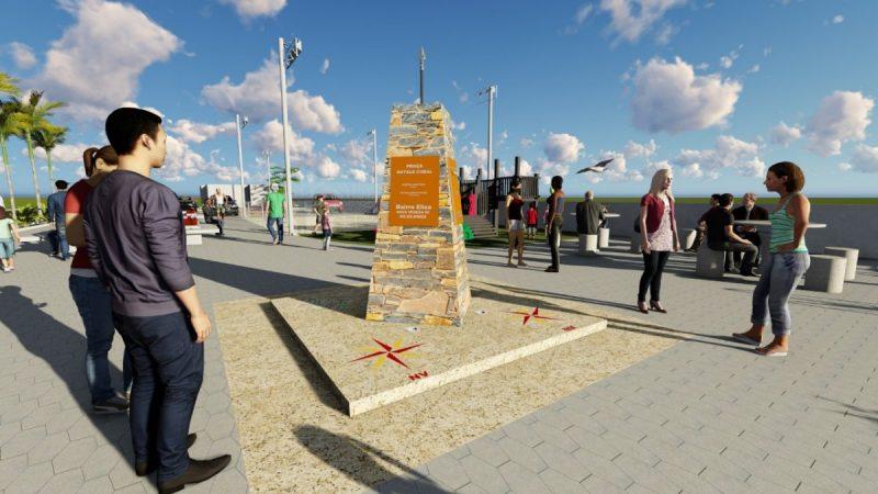 Projeto para quando a Praça Natale Coral, em Nova Veneza, estiver concluída. – Foto: Nicola Gava/Estudioso da cultura ítalo-brasileira.