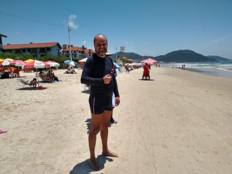 Eduardo Verona, turista de MG – Foto: Bruna Stroisch/ND
