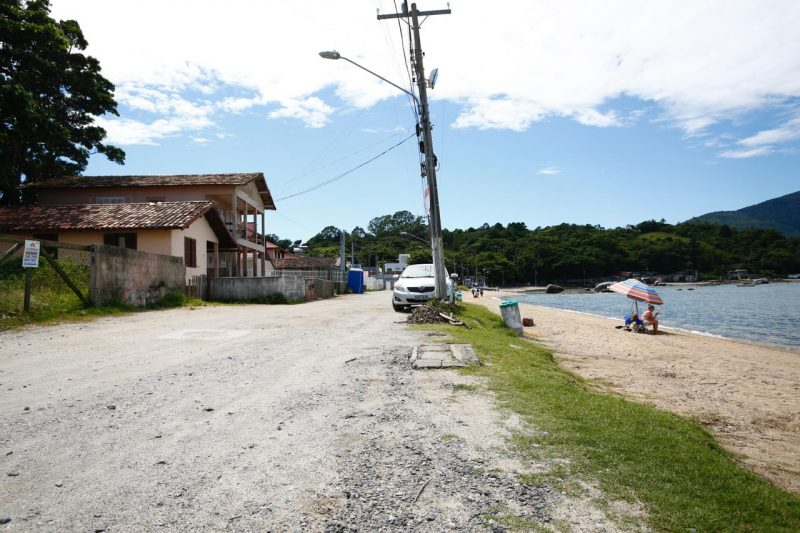 Situação atual da praia da Tapera, no Sul da Ilha de Santa Catarina – Foto: PMF/Leonardo Sousa/ND